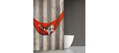 Κουρτίνα Μπάνιου animals dog DES201