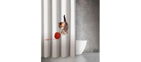 Κουρτίνα Μπάνιου animals cat DES210